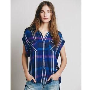 [Rails x Free People] Soft Sleeveless Flannel